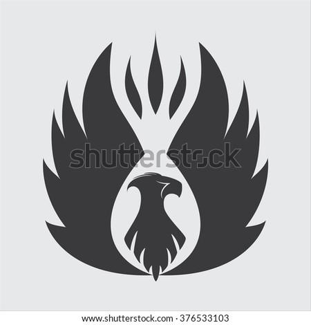 Phoenix Icon, logo. vector illustration - stock vector