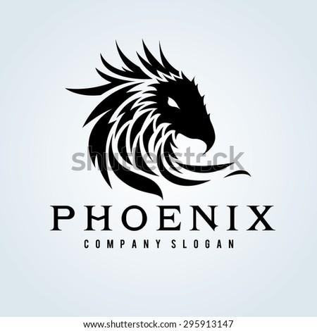 Phoenix Vector Logo Template - stock vector