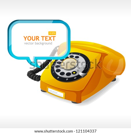 Phone as text box - stock vector