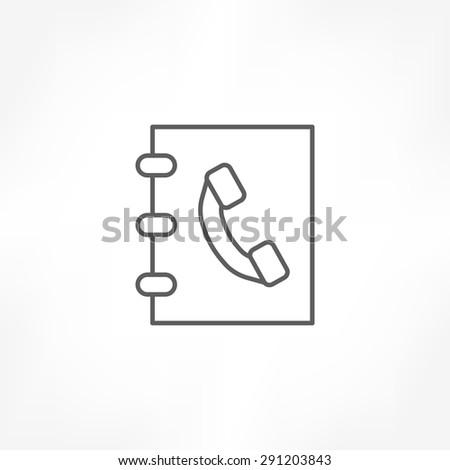 phone book icon - stock vector