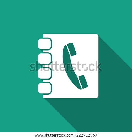 phone book icon with long shadow  - stock vector