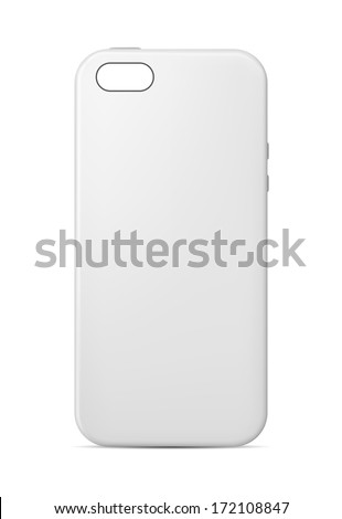 Phone case template - stock vector