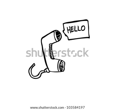 phone hello - stock vector