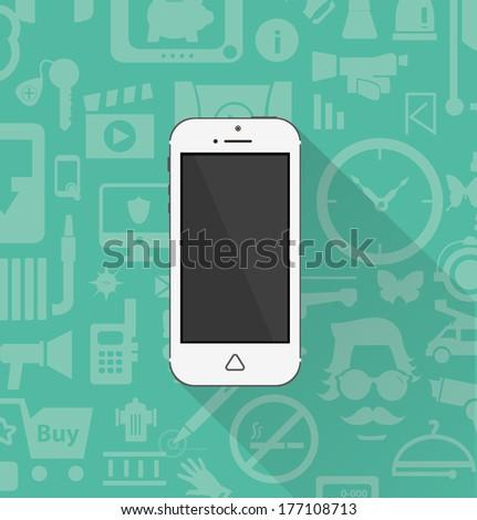 Phone icon minimal style - stock vector
