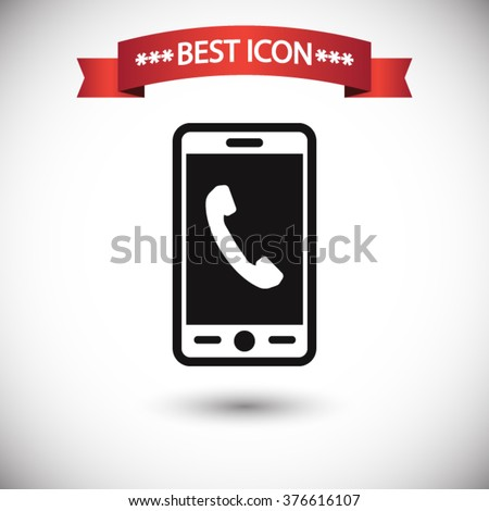 Phone icon vector - stock vector