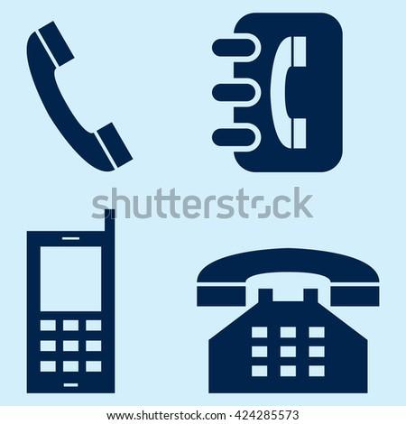 Phone Icons - stock vector