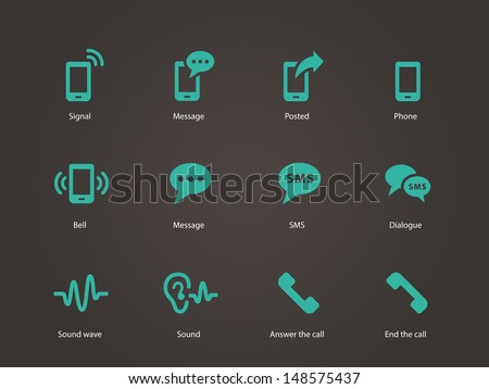 Phone icons. Vector illustration. - stock vector