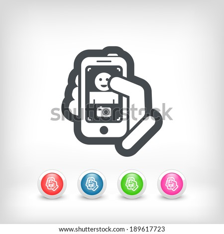 Phone photo - stock vector