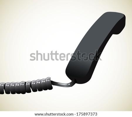Phone reciever - stock vector