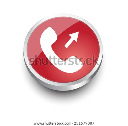 Phone red design elements for website or app. Vector eps10. - stock vector