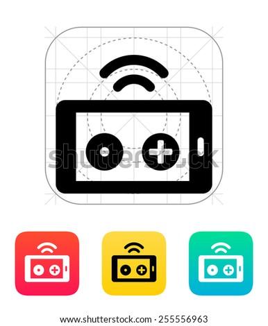 Phone remote controller icon. Vector illustration. - stock vector