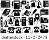 Phone set - stock vector