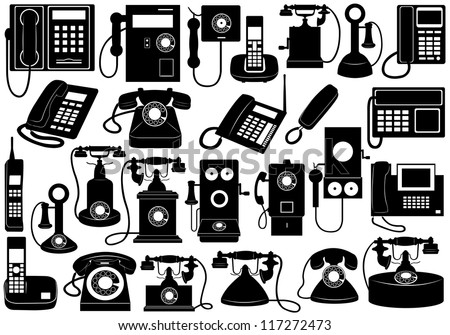 Phone set - stock vector