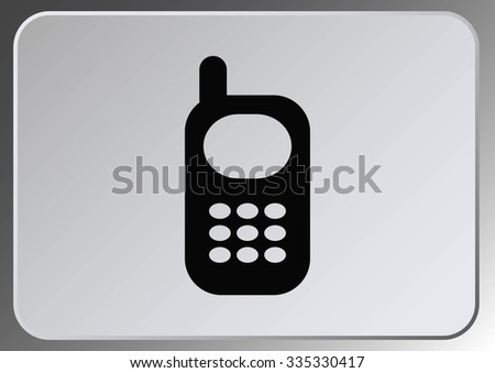phone talk icon - stock vector