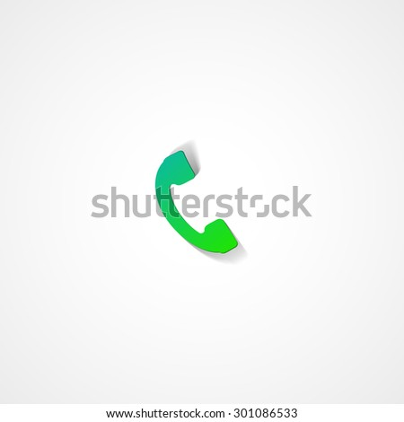 Phone web icon on white background - stock vector