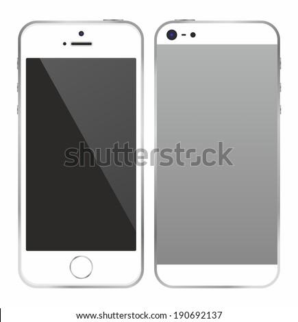 Phone white - stock vector