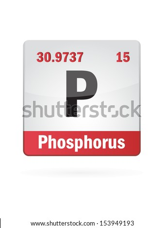 Phosphorus Symbol Illustration Icon On White Background - stock vector