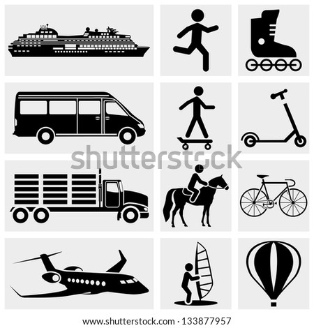 Photo and Media Icons. - stock vector