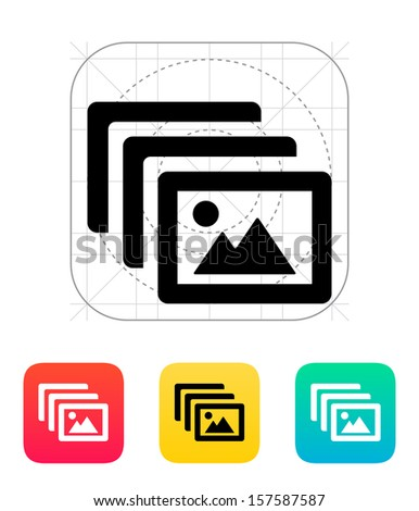 Photo archive icon. Vector illustration. - stock vector