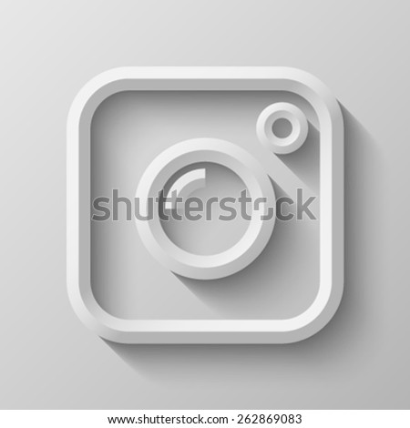 Photo camera with bevel - stock vector