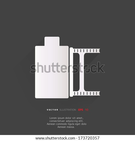 photo film in cartridge icon - stock vector
