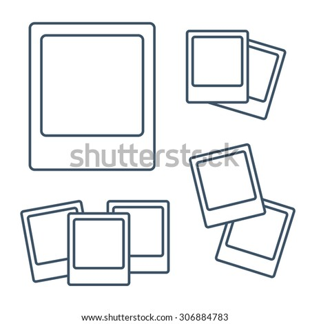 Photo frame isolated on white background. Vector illustration - stock vector