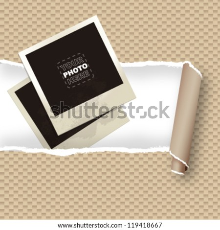 photo frame to put your image. vector design - stock vector