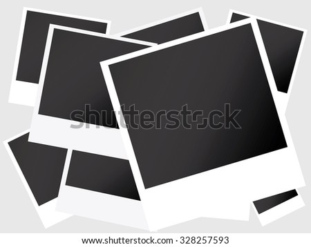 photo frame vector - stock vector