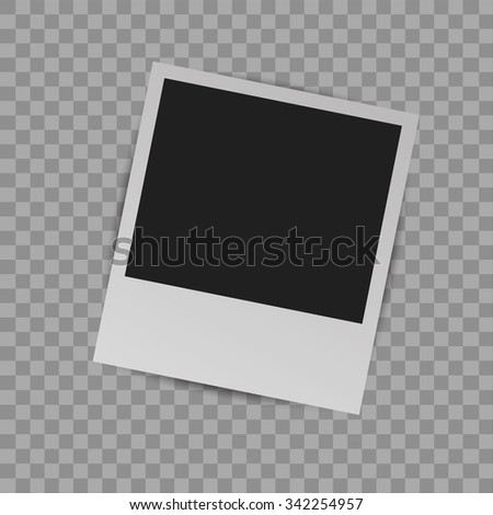 Photo Frame with shadow on a transparent background - stock vector