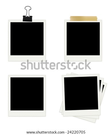Photo Frames Collection. Easy To Edit Vector Image. - stock vector