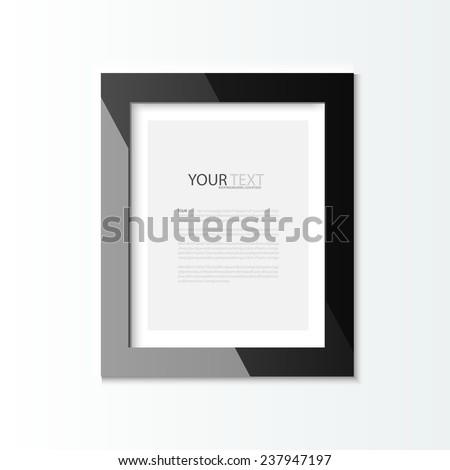 Photo frames, vector Illustration - stock vector