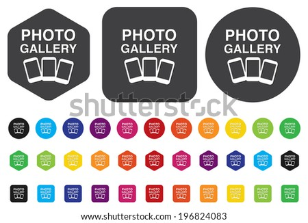 photo gallery icon - stock vector
