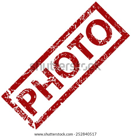 Photo grunge rubber stamp on a white background. Vector illustration - stock vector
