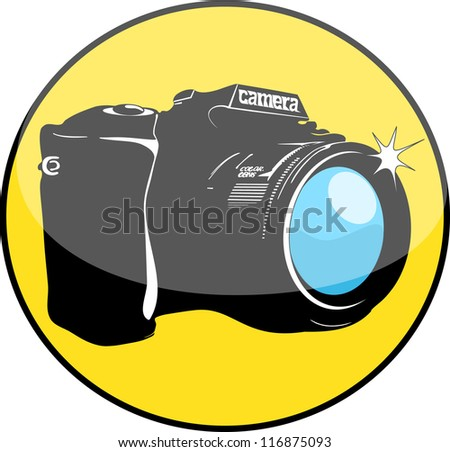 photo icon - stock vector