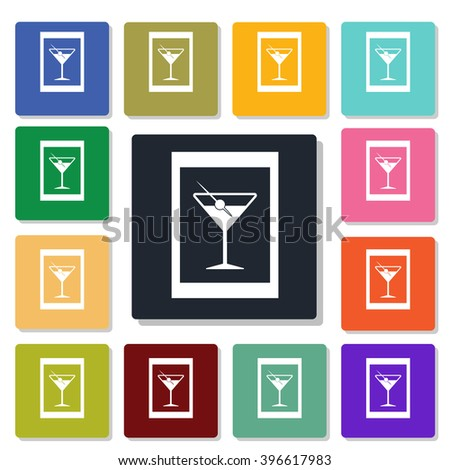photo in a frame icon - stock vector