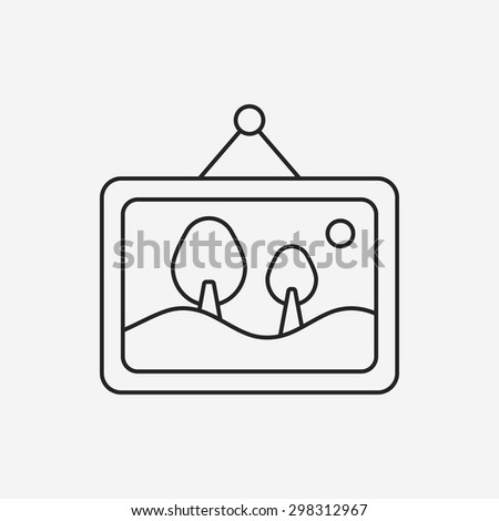 photo line icon - stock vector