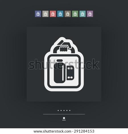 Photo service icon - stock vector