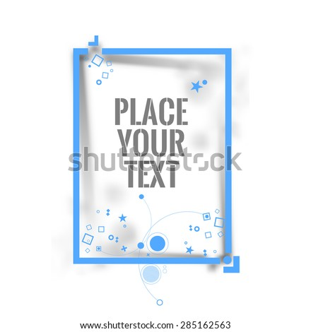 Photo square frame. Vector illustration - stock vector