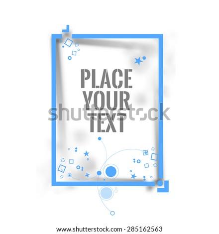 Photo square frame. Vector illustration - stock vector