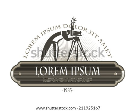 Photographer. Vector format - stock vector