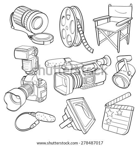 Photographic Equipment - stock vector