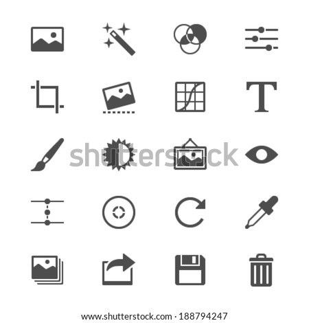 Photography flat icons - stock vector
