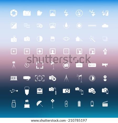 photography icon vector  - stock vector