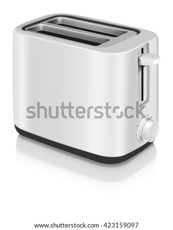 Photorealistic electric toaster - stock vector