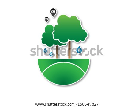 Photosynthesis - stock vector
