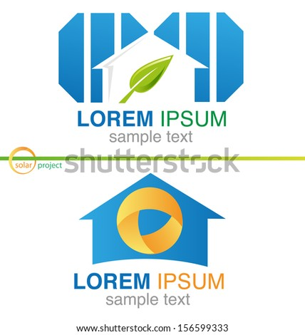 photovoltaic project - stock vector