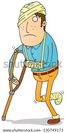 physical injuries - stock vector