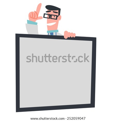 Physician Showing Whit Board - stock vector