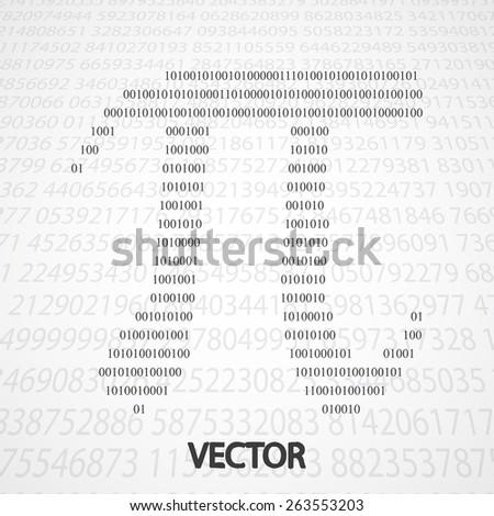 Pi Numbers shape eps10. Mathematics vector elegant illustration - stock vector