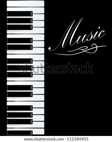 Piano background for musical design. Vector illustration - stock vector